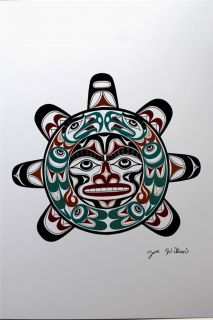 Joe Wilson Print Northwest Coast Native Indian First Nations Cowichan