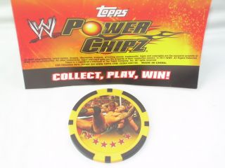WWE Wrestling Power Chipz Randy Orton RKO F2 Finisher Game Chip