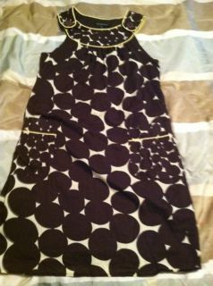 Jodi Kristopher Size 5 6 Dress Brown Polka Dots