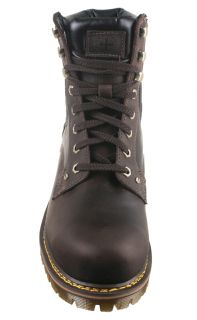 Dr Martens Mens Boots Joel 8 Eye Brown Black Burnished Wyoming Leather