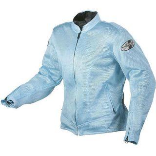 Joe Rocket Cleo Mesh Armor Motorcycle Jacket Woman Lady Medium Blue