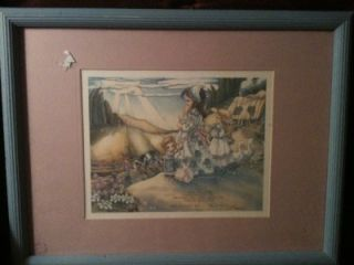 Wall Art Judy Bergsma Le Print Framed Mother and Children at Sunrise