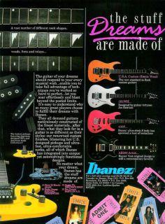 Ibanez USA Custom AR200 Joe Satriani Guitar Print Ad