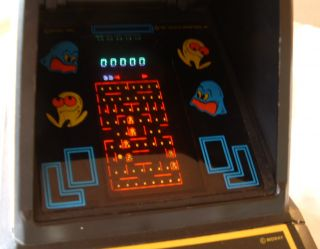 1981 Coleco Table Top Pac Man Video Game Nice Working Condition