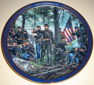 Set John Paul Strain Gallant Men of The Civil War Commemorative Plates