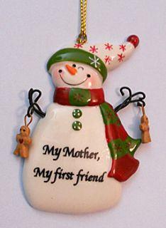 Mother My First Friend Christmas Tree Ornament Kurt Adler New