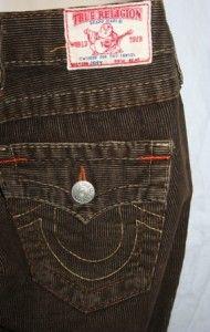 True Religion Womens Corduroy Pants Joey Jeans Brown Size 25