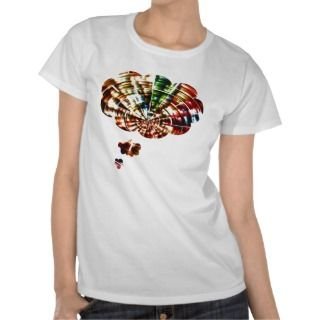 Divine Thoughts   Red Sparkle Cosmic Art T Shirts