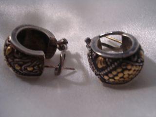 John Hardy 18K Sterling Silver Earring Retired