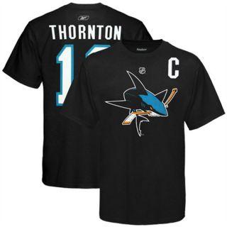 San Jose Sharks Joe Thornton Captain T Shirt Sz Medium
