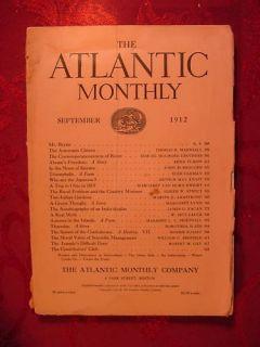 Atlantic September 1912 John Burroughs James O Fagan