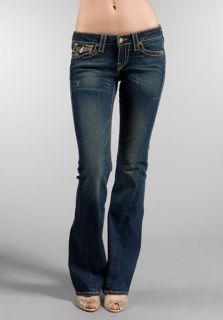 True Religion Womens Jeans Joey Big T Disco Gold Dark Drifter Wash 23