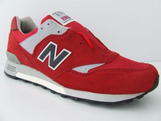 Mens New Balance Trainers 577 RBW Red Retro Deadstock Suede Sneakers