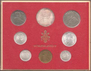 1967 Vatican City Pope John Paul Commemorative Mint Set