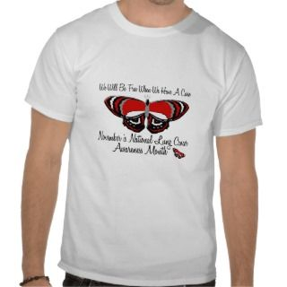 Lung Cancer Awareness Month Butterfly 1.1 T shirts