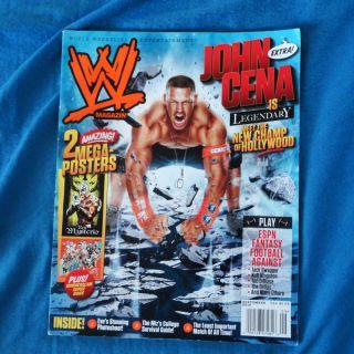 JOHN CENA WWE magazine Sep 2010 wrestling Triple H Mysterio SummerSlam