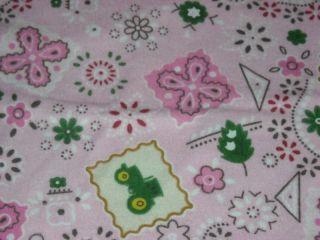 John Deere Pink Bandana 100 Cotton Flannel Fabric by The 1 2 Yard