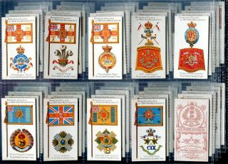 Tobacco Card Set John Player Badges Flags British Regiments Brown 1904