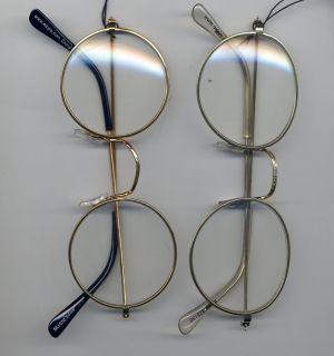John Glasses Stage Studio Gold Wire Rim Potter Santa Lennon Round or