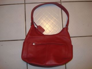 St Johns Bay Red Leather Hobo Bag Used Once