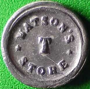 Civil War Token: NY630CF 1g R7 WATSONS T STORE, GOOD FOR 1 CENT, SCM