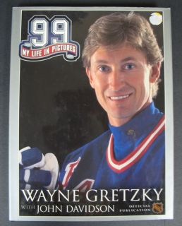 Wayne Gretzky 99 My Life in Pictures with John Davidson BK 0016