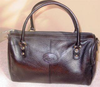 Vintage John Romain Black Pebbled Leather Doctor Bag Speedy Satchel
