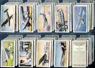 Tobacco Card Set John Player International Airliners Plane Aircraft