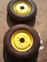 John Deere Kubota 6x12 Tractor Tires with Wheels