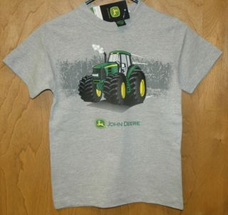 New Gray John Deere Tractor Short Sleeve T Shirt Toddler Sizes 2T 3T 4T STS997HJ