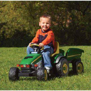 John Deere Pedal Power Farm Tractor Trailer
