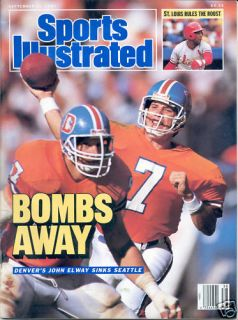 Sports Illustrated 1987 John Elway Denver Broncos NFL Football Stanford Nolabel