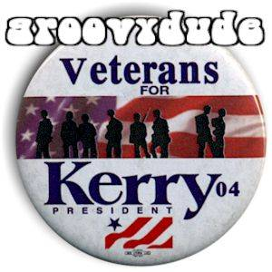Veterans Forjohn Kerry Edwards 2004 Political Campaign Pin Button Pinback Badge
