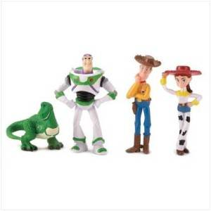 Disney Pixar Toy Story 4 PC Figure Set Including Rex Woody Jessie and Buzz