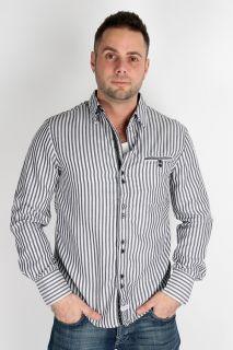 John Lennon by English Laundry 2XL Quarry Man Striped Shirt JLW1158 Mens