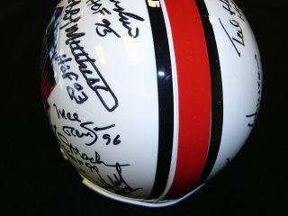 Pro Football Hall of Fame Multi Signed Riddell Mini Helmet 13 HOF Signatures