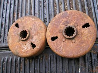 John Deere H Tractor Pair of 2 Original JD Brake Drums