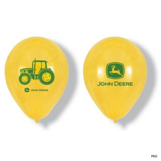 "John Deere 6 12"" Latex Balloons Tractor Party Supplies Birthday Green Farmer"
