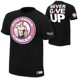 John Cena Rise Above Cancer WWE Authentic T Shirt Official Licensed New