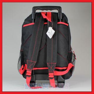 """16"""" WWE Wrestling Rolling Backpack Roller Bag Wheeled"""