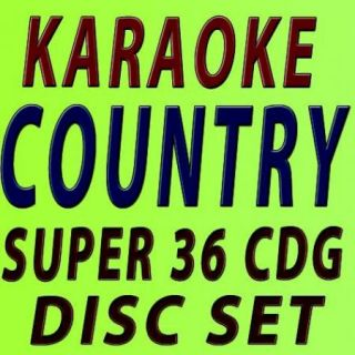 SUPER KARAOKE 36 CD G DISC SET ALL COUNTRY CLUB PACK FAST TRAX W FREE SHIPING