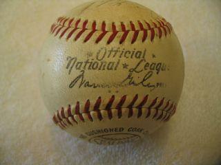 Vintage Autographed 1968 Los Angeles Dodgers Baseball Nice
