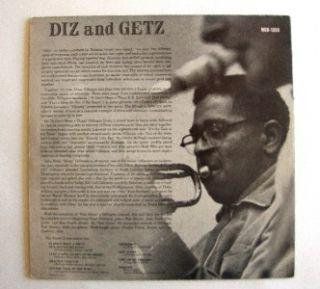 Album Dizzy Gillespie Stan Getz Diz and Getz Norgan LP Record MGN 1050 Max Roach