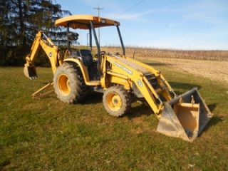 John Deere 110 Tractor Loader Backhoe 2 Buckets Quick Attach 3 Point Hicth 017