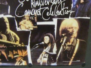 Bob Dylan Promo Poster The 30th Anniversary Concert Celebration John Mellencamp