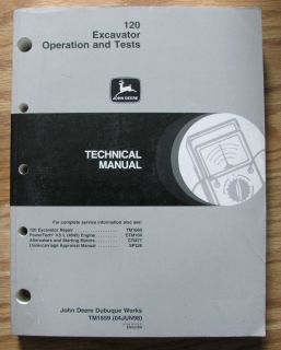John Deere 120 Excavator O T Technical Service Manual