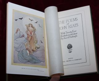 EXRARE 1ST 1910 ART NOUVEAU MASTERPIECE KEATS BURLEIGH AMAZING COLOR PLATES WOW
