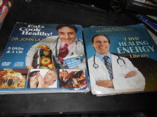 John La Puma 2 multi disc sets Eat Cook Healthy Healing Energy Library Sealed