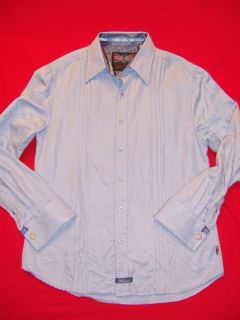 NWT English Laundry by Scott Weiland Blue Button Down Long Sleeve Shirt SZ M