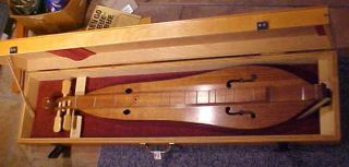 1988 Wood Mountain Dulcimer in Wooden Box John Maxwell Signed Awesome